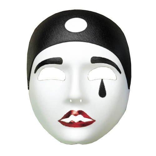 Maske Pierrot, schwarz/weiß (Und Pierrot Schwarze Maske Weiße)