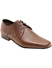 Red Tape Brown Derby Genuine Leather Formal Shoes-9 Uk