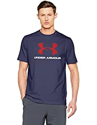 Under Armour Cc Sportstyle Logo Camiseta de Manga Corta, Hombre, Azul (Midnight Navy/Red), 2XL