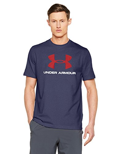 Under Armour Cc Sportstyle Logo Herren Fitness - T-Shirts & Tanks, Midnight Navy/Rot, L (Baumwolle-logo-t-shirt)