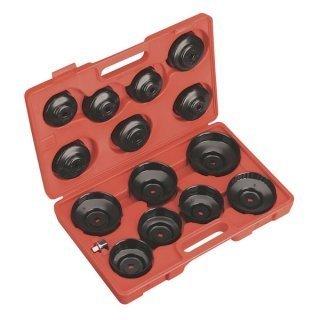Chiavi per filtro olio a tazza/bussola set 15 pz in valigetta