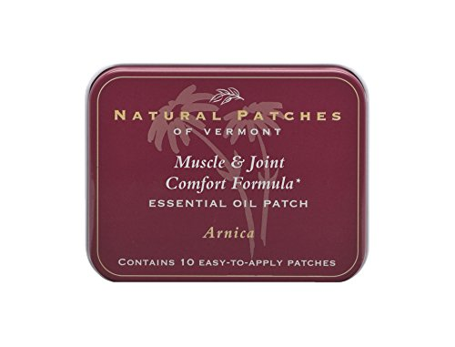Natural Patches Of Vermont Arnica Relief from Aches & Pains Aromatherapy Body Patches, 10-Count Tin by Naturopatch of Vermont