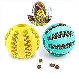 UEETEK 2pcs Juguete de Goma Masticar Mascotas, Squeaker Squeeze Pet...