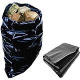 10Sacs en polyéthylène robuste en plastique noir grand Builders Taille 50,8x 76,2cm/500x 750mm Durable gravats Brique Gravier Sable agrégat Sacs de rangement Bois