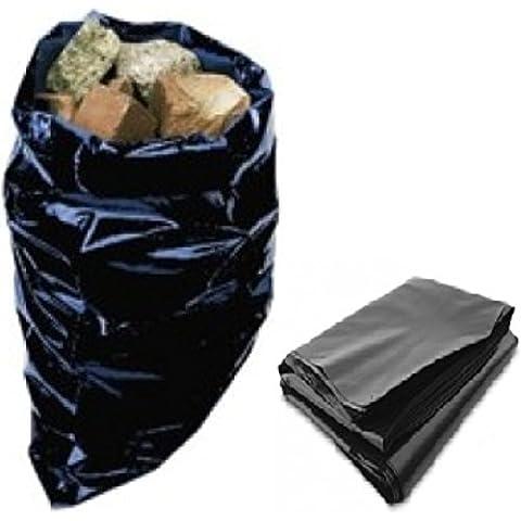 50fuerte resistente negro bolsas de polietileno plástico constructores de gran tamaño 20x 30