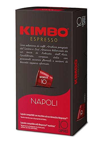 KIMBO Napoli - intensità 10 - capsule compatibili Nespresso*® 10 Astucci da 10 capsule (tot 100 capsule)