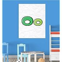 Alphabet O Nursery Children Educational Early Learning Poster Print Wall Art preiswert