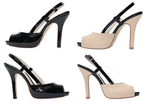 MMUGA Damen Schuhe Pumps Schwarz