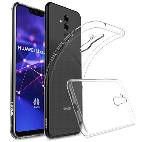 HOOMIL Huawei Mate 20 Lite Hülle Durchsichtige Handyhülle Silikon Transparent Schutzhülle für Huawei Mate 20 Lite Case Cover, HD3450