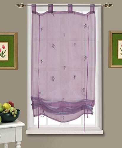 Löscher-tirol, tenda a rullo con laccetti e 4 occhielli, viola (lila)