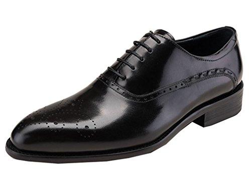 Leder-fahrer-schuhe (Dilize Herren Wingtip Oxford Budapester-Stil Schuhe in Echt Leder)