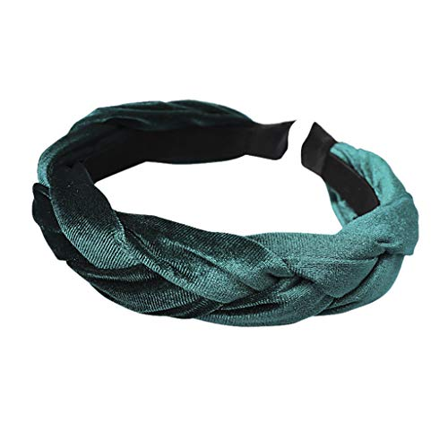 Damen Haarband, TTWOMEN Mode Bogen Knoten Frauen Helle Seide Kopf Hoop Einfache Süße Mädchen Haar Stirnbänder (Grün-D) -