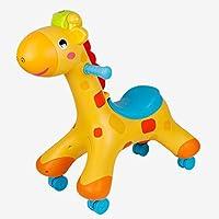 Kids Toy Giraffe Rocking Horse, Almacenamiento de Doble Uso con la certificación Light Music Chair 3C (Color : A)