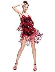 DESY Robes(Comme l'image,Elasthanne Paillété,Danse latine Salle de bal Spectacle)Danse latine Salle de bal Spectacle- pourFemmePaillettes