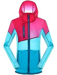 ZKOO Chaqueta De Deporte al Aire Libre con Capucha Unisex Ultraligero Softshell Chaqueta Cazadora Jacket Anti-ultravioleta Impermeable Para Mujer Hombre