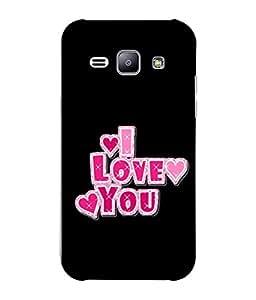 Fuson Designer Back Case Cover for Samsung Galaxy J1 (2015) :: Samsung Galaxy J1 4G (2015) :: Samsung Galaxy J1 4G Duos :: Samsung Galaxy J1 J100F J100Fn J100H J100H/Dd J100H/Ds J100M J100Mu (Pink Feelings Sweet Heart Beloved)