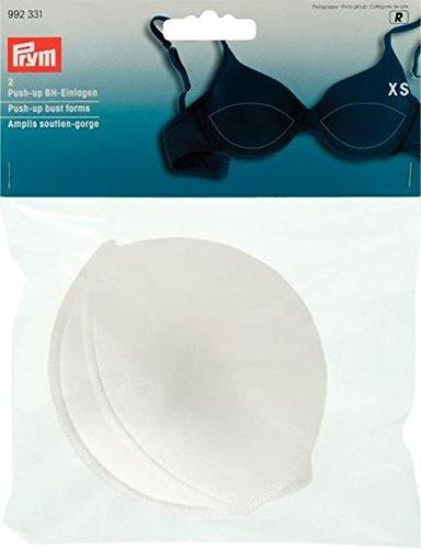 PRYM Medium/Large 2-teilig Push-Up Brust Formen, Flesh weiß
