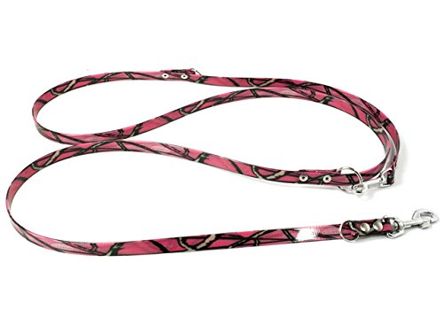 Mystique Biothane verstellbare Hundeleine camo pink, Größe: 19 mm x 200 cm