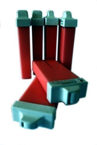 EPILWAX S.A.S - 6 Wachspatronen für Intimenthaarung 100 ml rose medium Rollkopf, Haarentfernung