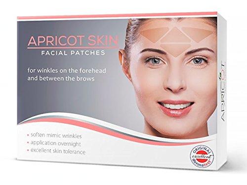 Apricot Skin Anti-Falten Gesichtspads - sanfte und nachhaltige Methode zur Faltenreduzierung! 100 Patches Zornesfalte / Stirn