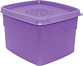 Cello Max Fresh Classic Square Large Polypropylene Container, 875ml, Purple