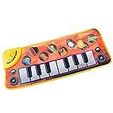 Tapis musical Tapis de piano Toucher jouer clavier Tapis Couverture chantante avec 8...