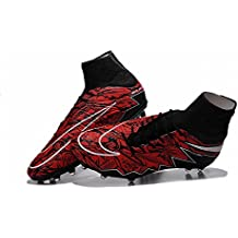 Deborah Botas los hombres de fútbol de fútbol Hypervenom Phantom II FG Zapatos, hombre, rojo, 42
