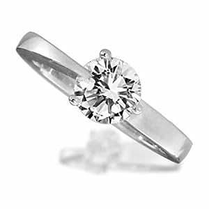 Palladium 0.50 Carat Certificated Diamond Engagement Ring