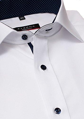 ETERNA uomini MODERN FIT long sleeve shirt white 15 Normal (25 1/2 inch) .