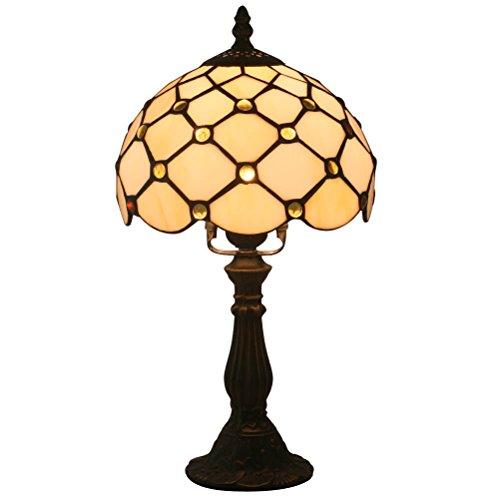 FABAKIRA Nachttischlampe Tiffany Lights Atmosphäre Ästhetische Tischlampe Leselampe Zimmer Lampe 8 Zoll [Energieklasse A+++] - Tiffany-einzelne Licht Tischleuchte
