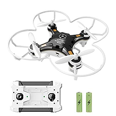 GEEKERA Mini Drone, RC Quadcopter Pocket Drone for Kids with 2.4G 4CH 6Axis 3D Flips Headless Mode and One Key Return Easy Fly for Beginners