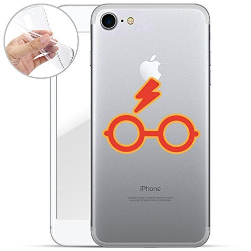 Harry Potter All Serie Silicone Iphone - Case Logo, Iphone 7 Harry Potter Occhiali