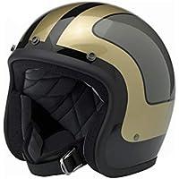 MSF Cascos Pareja de moda casco de motocicleta Harley para mujer, casco de careta completa