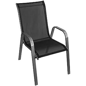 stapelstuhl gartenstuhl stapelsessel gartensessel stapelbar stahlgestell. Black Bedroom Furniture Sets. Home Design Ideas