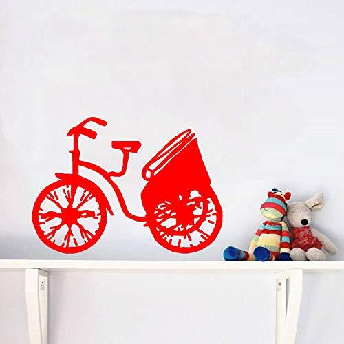 zhuziji Adesivo da Parete Moda Biciclette Decorazioni Vintage Cucina e Palestra Sport estremi PVC 88A-3 49CM * 36CM