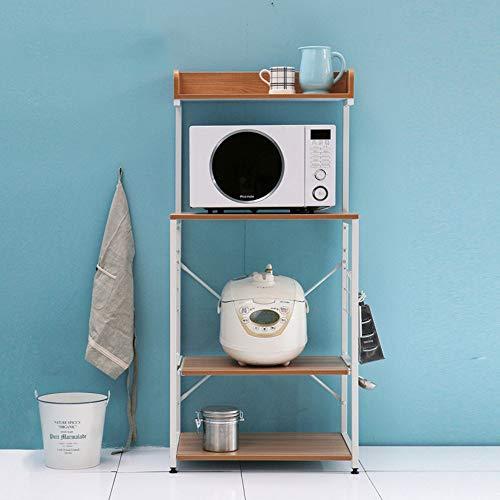 Unbekannt FEI Rack Mehrschicht-Küchen-Gestell-Gebrauchs-Mikrowellenherd-Stand-Speicher-Warenkorb-Arbeitsplatz-Regal, (Farbe : B) -