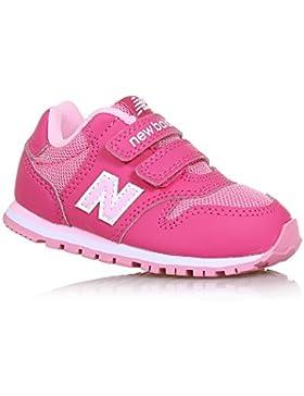 NEW BALANCE - Zapatilla deportiva 500 infant fucsia y rosa, de tejido sintético y microfibra, con cierre de velcro...