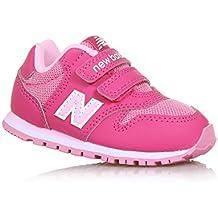 NEW BALANCE - Zapatilla deportiva 500 infant fucsia y rosa, de tejido sintético y microfibra, con cierre de velcro, logo lateral trasero, Niña, Niñas