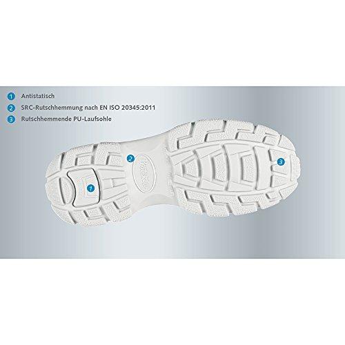 En Halbschuh Ce Linha Branco De Couro De Liso Iso 39 20345 S2 Gr Sapato Protetor 2011 Abeba qqvXAz