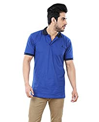 AUDACITY Mens Regular Fit Premium Cotton Polo T Shirt (T03P05_Royal Blue_M)