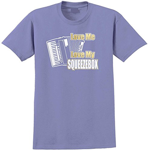 Accordion Love My Squeezebox - Violett T Shirt Größe 81cm 32in Med 9-11 Jahr MusicaliTee