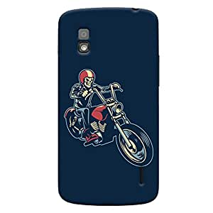ColourCrust LG Google Nexus 4 Mobile Phone Back Cover With Bikers Or Riders Choice - Durable Matte Finish Hard Plastic Slim Case
