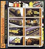 Benin 2003 Classic American Railroads #01 - Chicago & North Western, perf sheetlet set of 8 values...