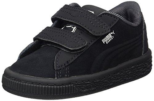 Puma Unisex-Kinder JL Batman Basket V Inf Sneaker, Schwarz (Black-Black), 20 EU