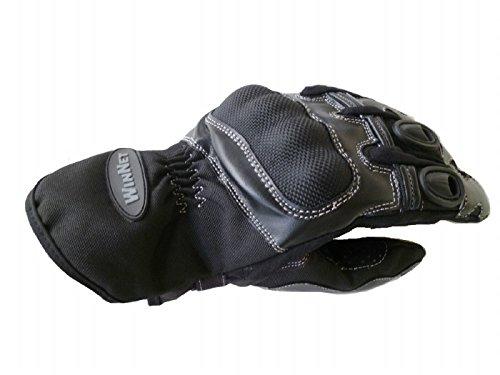 WinNet guanti da per moto in pelle con protezio