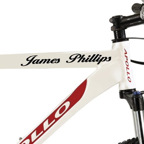 2 X PERSONALISED PUSH BIKE FRAME,CYCLING NAME VINYL DECALS, STICKER, GRAPHIC, MOTORCROSS,BMX