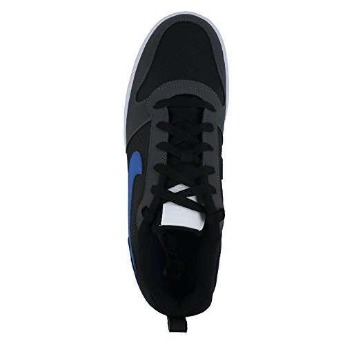 Nike Men's Court Borough Synthetic Low Shoes, 10 US(Black, Blue, Grey and White, 838937-006_006)