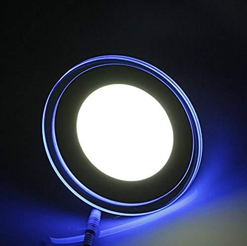 Panel Cristalino 18W Redondo Bordeado Con Iluminación Azulado Con 3 Posición de...