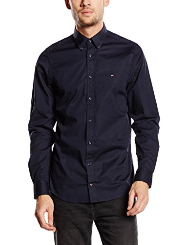 Tommy Hilfiger Herren Slim Fit Freizeit Hemd STRETCH POPLIN SF2, Gr. XX-Large, Blau (MIDNIGHT 403) (Button Hemd Down Hilfiger Tommy)