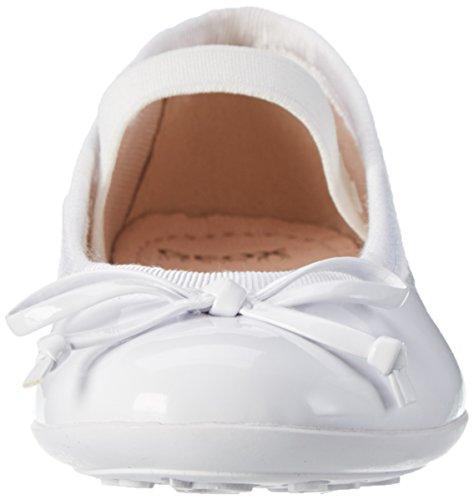Geox Mädchen Jr Plie' I Geschlossene Ballerinas Weiß (Whitec1000)